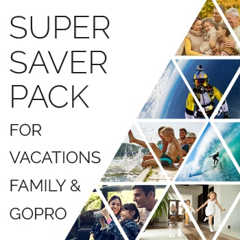 Super saver pack for vacations family and gopro 1 - Family and Vacation super saver pack